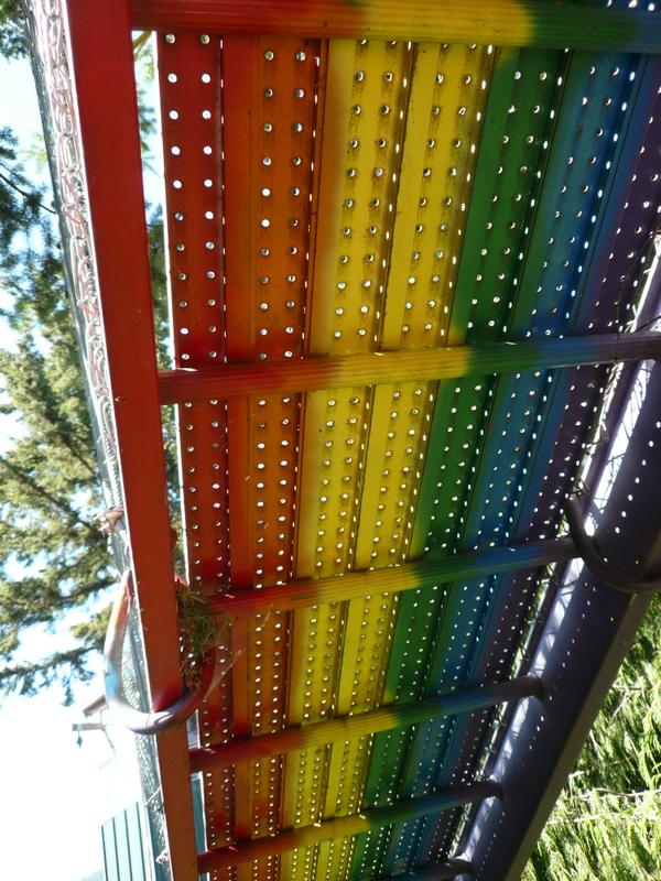 The underside of the Rainbow Bridge.