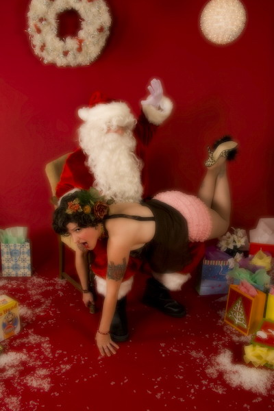 On the naughty list?  That's ok, we don't care!  (P.S. Hottie's on the naughty list EVERY year)