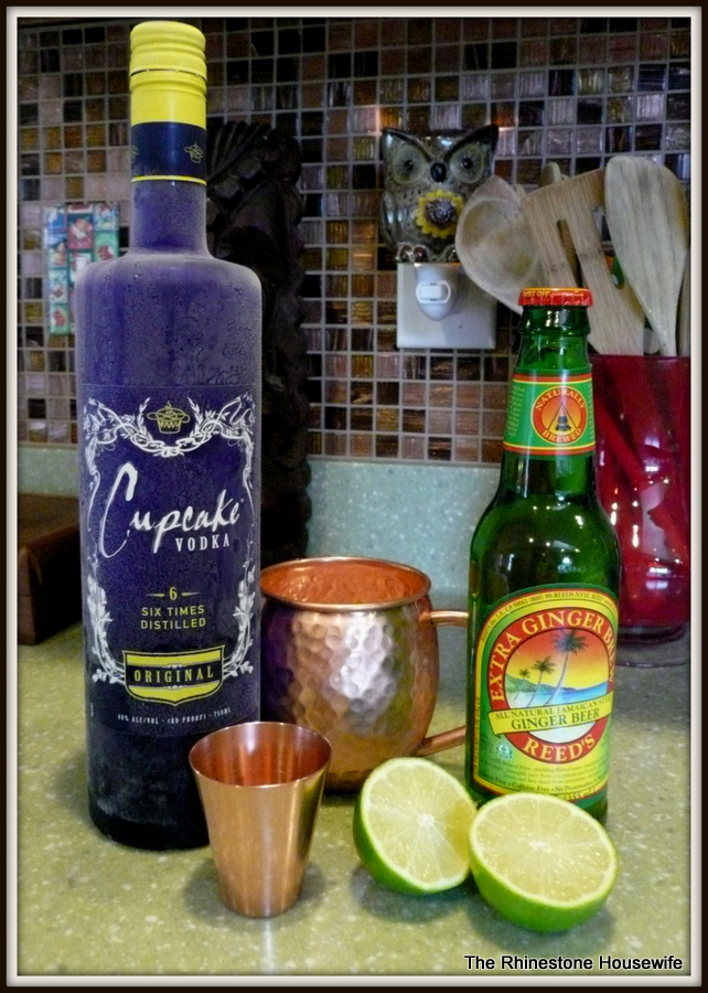 The makings for a perfect Moscow Mule.