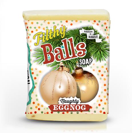 filthy balls eggnog soap